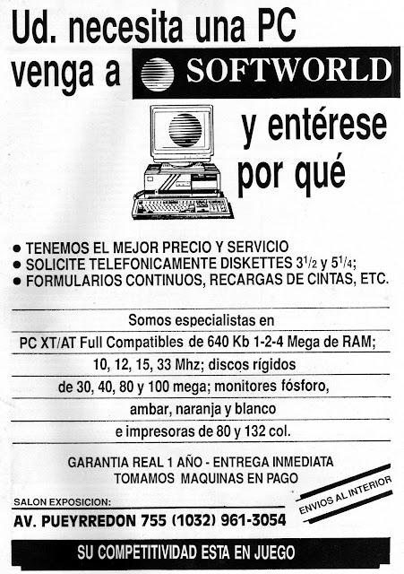 Computación en Argentina en 1989