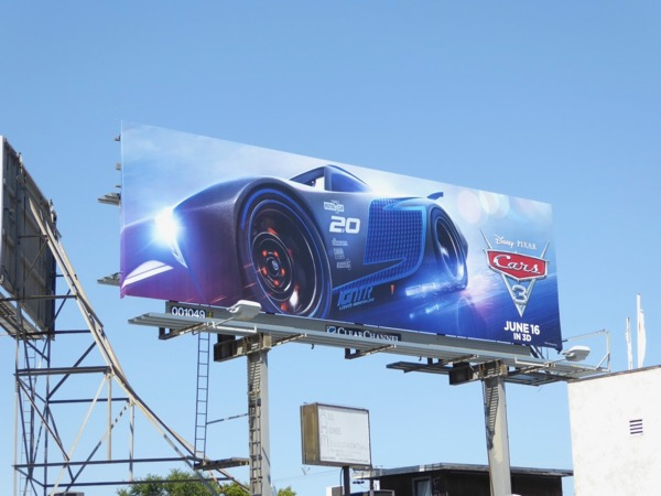 Jackson Storm Cars 3 movie billboard