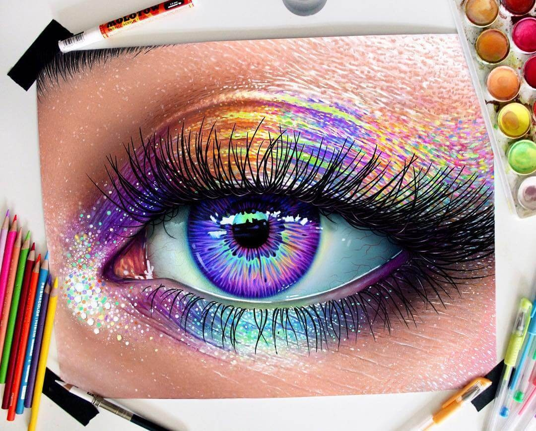 13-Rainbow-Eye-Glowing-Colorful-Drawings-Morgan-Davidson-www-designstack-co