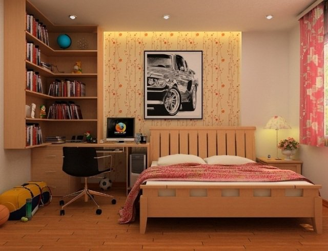 A single decor room for a teen girl