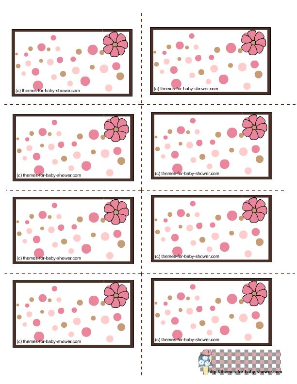 Etiquetas de Baby Shower para Niña para imprimir gratis.