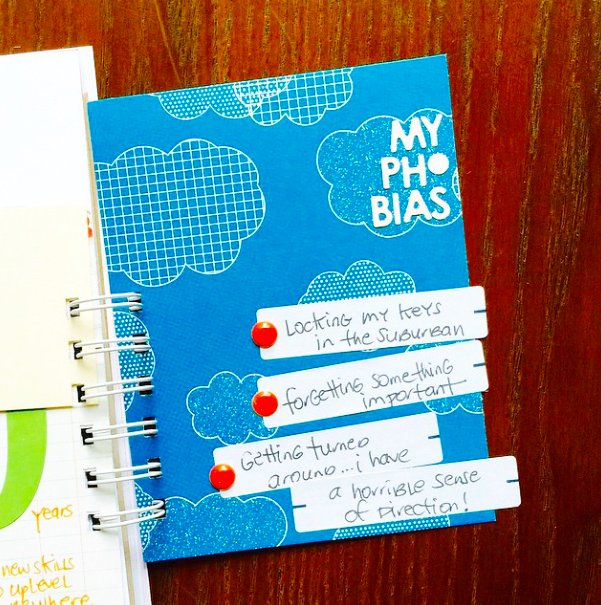 #smashbook #journal #minialbum #phobias #journaling #list