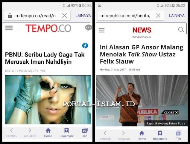 PBNU: Seribu Lady Gaga Tak Merusak Iman Nahdliyin; Tapi ...