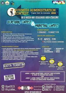Lomba Business Administration Contest Tingkat SMK Se-Indonesia 2018 Politeknik Negeri Semarang