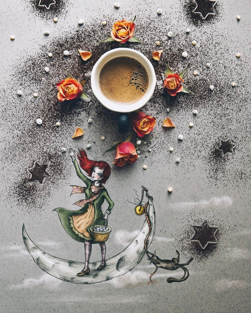 11-The-Girl-of-Ink-and-Stars-Cinzia-Bolognesi-The-Coffee-Rituals-and-Illustrated-Compositions-www-designstack-co
