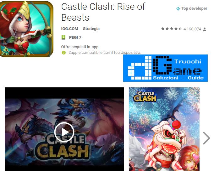 Trucchi  Castle Clash Mod Apk Android v1.3.13