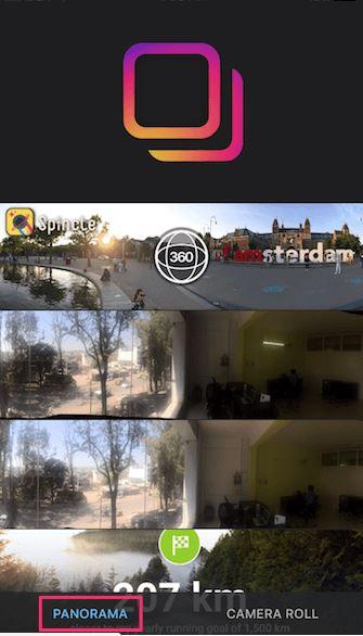 cara memposting panorama di Instagram Android dan iOS