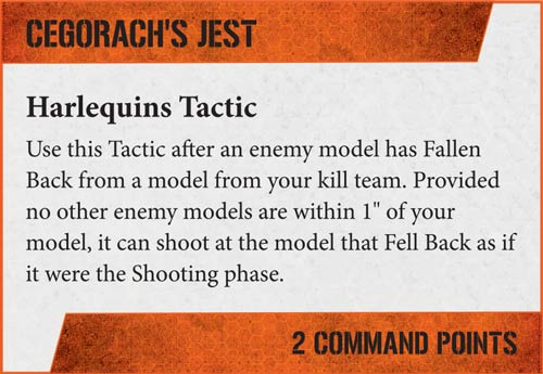 Tácticas Kill Team Arlequines