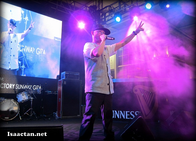 Justin Lo performing to the crowd at Guinness Arthur's Day 2012 at Beer Factory Sunway Giza