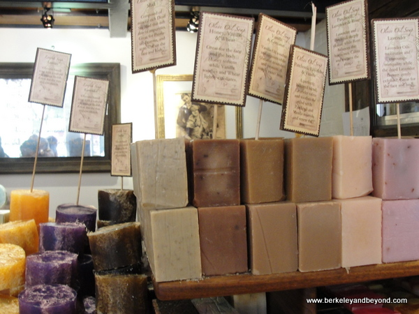 soaps at Sabon shop in NYC