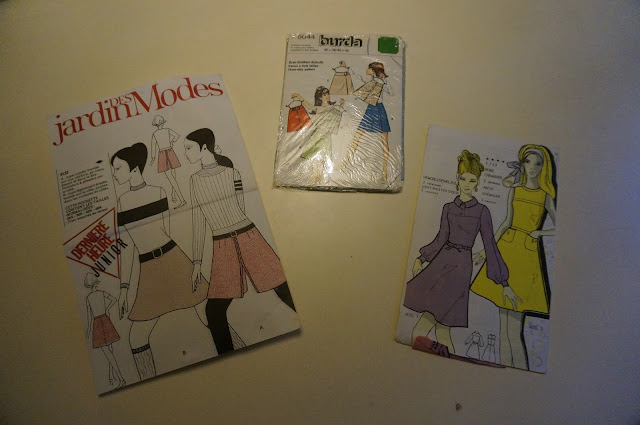 60s 70s pattern aline skirt jupe trapeze années 60 70 burda jardin des modes patron