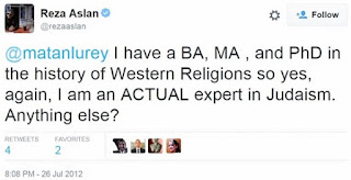 I have a BA, MA, and PhD in the history of Western Religions so yes, again, I am an ACTUAL expert in Judaism.