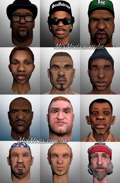 gta sa mod skins personagens hd remaster remastered remasterizado