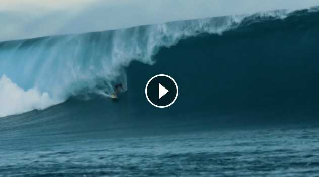 The Start Of The Massive May 25th 2018 Cloudbreak Swell Kohl Christensen and Laurie Towner