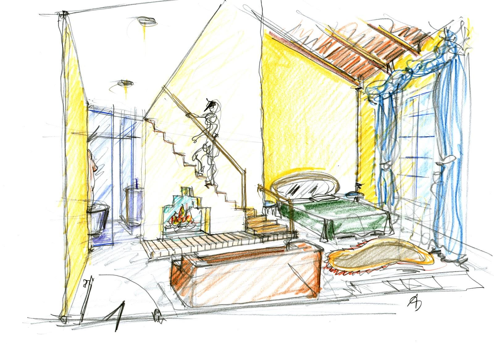 Vent 39 anni di disegni dell 39 arch antonio saporito lo for Interni architettura