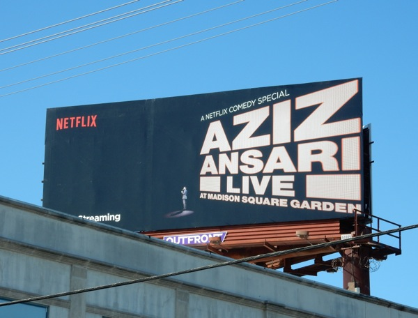 Aziz Ansari Live at Madison Square Garden billboard
