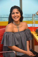 Mega Akash in a sleeveless Off Shoulder Cute Dress Stunnign beauty at Radio Mirchi Promoting Movie LIE ~ Celebrities Galleries 019.JPG