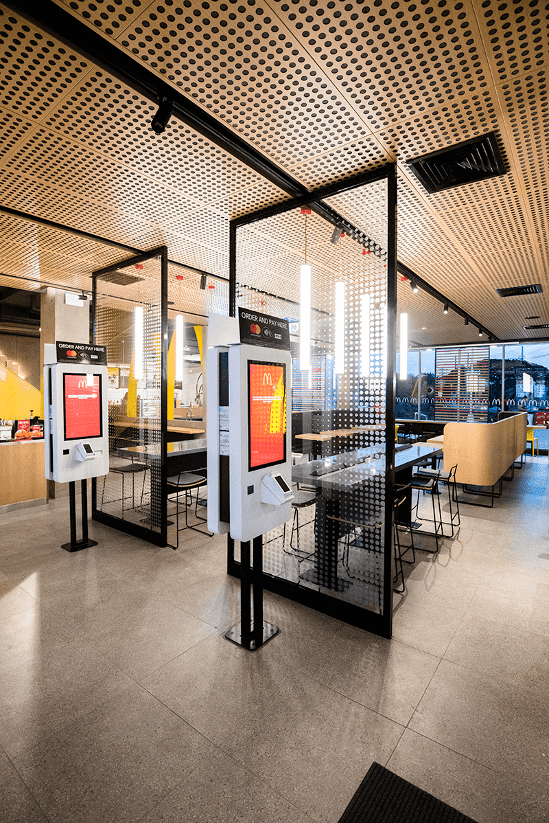They have self-ordering kiosks