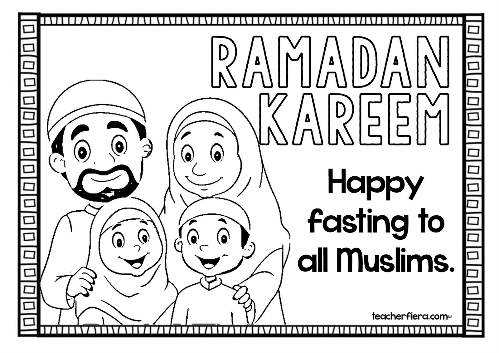 teacherfiera.com: RAMADAN COLOURING SHEETS 2019