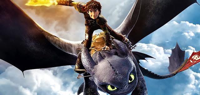 Hiccup şi Toothless în trailerul extins pentru animaţia How To Train Your Dragon 2