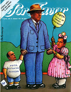 el villano arrinconado, humor, chistes, reir, satira, la Transicion, Alianza Popular, UCD