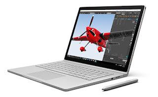 Laptop Microsoft Surface Book untuk mahasiswa teknik sipil