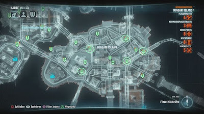 Batman Arkham Knight, Campaign For Disarmament, Miagani Island, Bomb Locations map