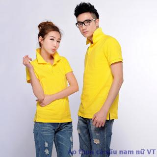 Áo thun cá sấu nữ màu vàng