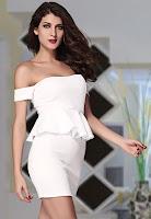 Rochie eleganta de seara, accesorizata cu peplum