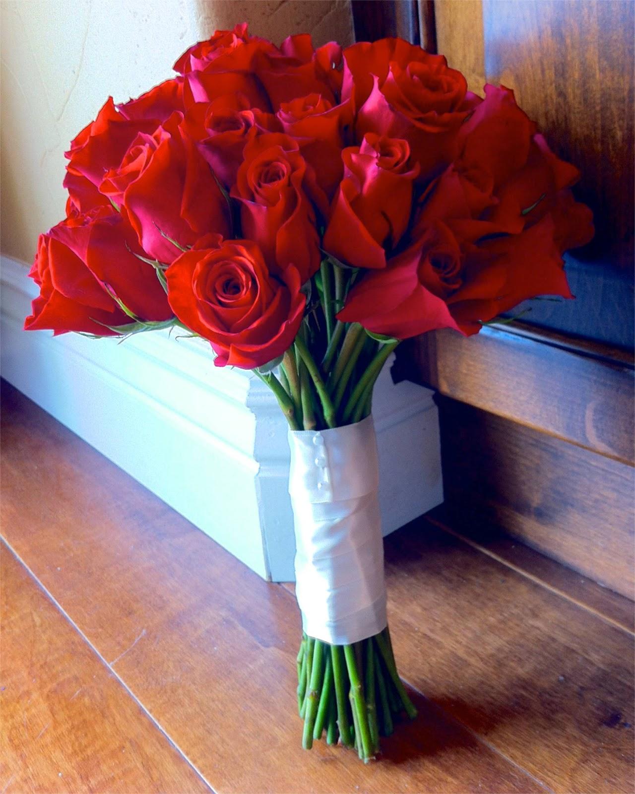 Red Rose Wedding Flowers: The Flower Girl Blog: Red Roses