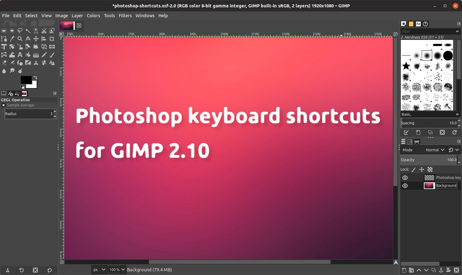 2 Gimp The Configure Gimp 2 10 To Use Photoshop Keyboard Shortcuts How To