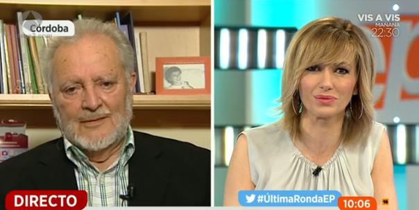 Julio Anguita estalla con Susanna Griso