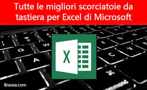 Le migliori scorciatoie da tastiera Excel Microsoft