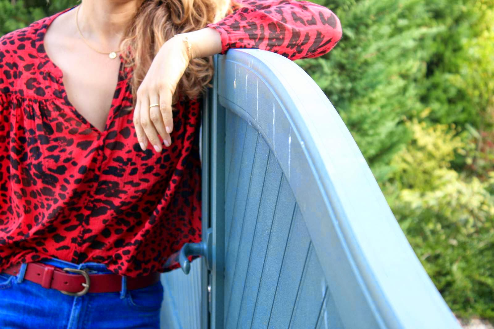 How to wear red, animal prints fall fashion