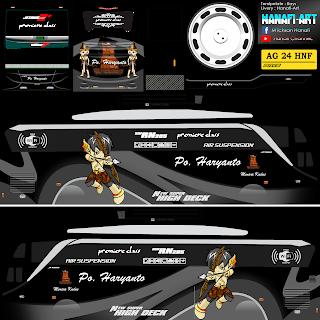 Livery Bus Bussid Haryanto SHD Mod Anime + Link Download Livery Bus Haryanto SHD Mod Anime
