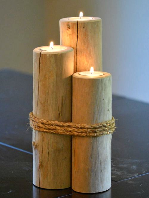 Pilings Candle Holders