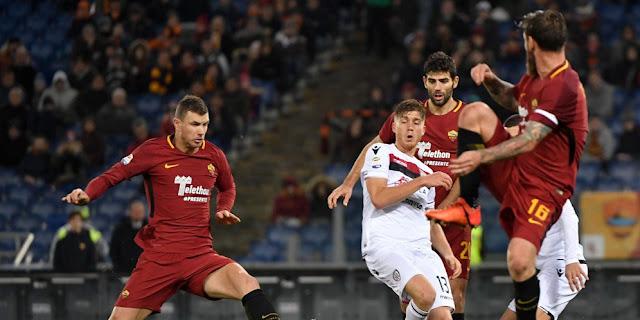 Hasil Pertandingan Serie A italia : As Roma vs Cagliari (1-0)