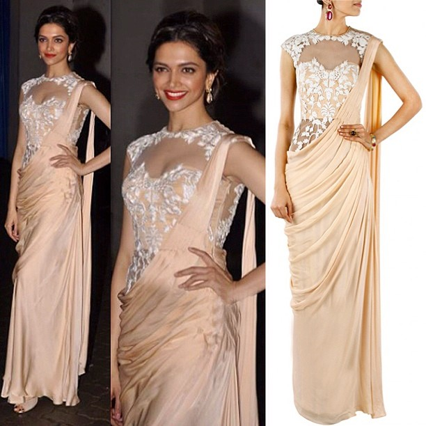 Dorable Saree Gown Deepika Festooning - Ball Gown Wedding Dresses ...