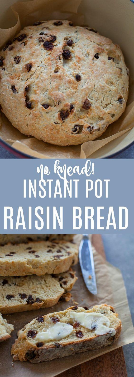 Instant Pot Raisin Bread