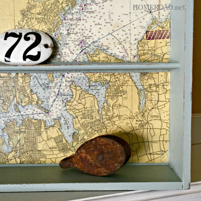 Repurposed Map Shelf www.homeroad.net