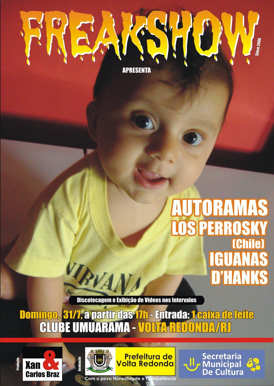 MSD zine: Domingo, 31/07/11: FREAKSHOW em Volta Redonda RJ