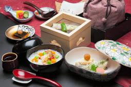小川屋 薬膳粥、鮎の一夜干し朝食
