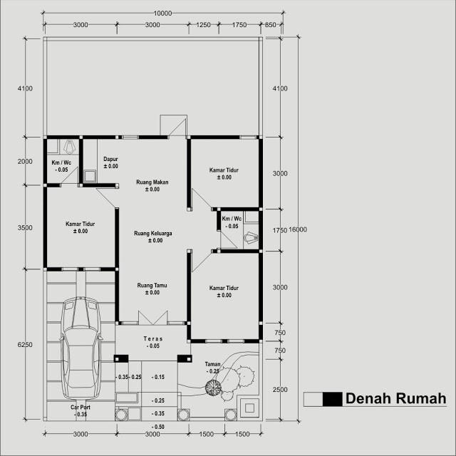 gambar denah rumah type 70 3