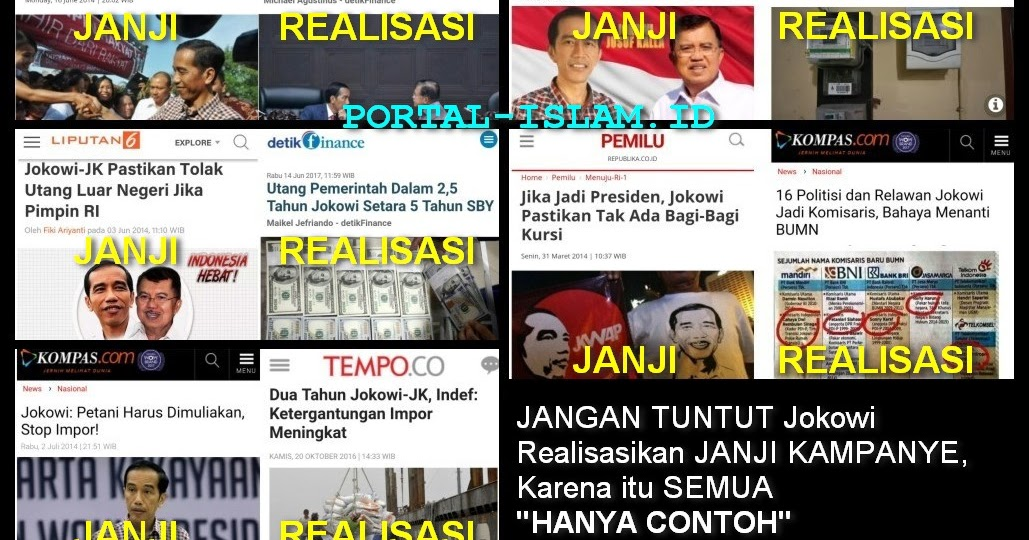 Jangan Tuntut Jokowi Realisasikan Janji Kampanye Karena Itu Semua