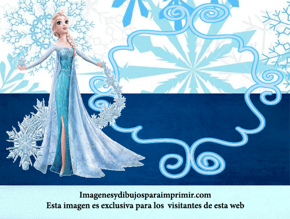 Invitaciones De Cumpleanos De Elsa De Frozen Imagenes Y Dibujos