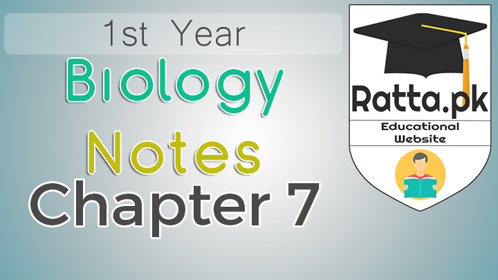 st Year Biology Notes Chapter 7 Kingdom Protoctista (Protista) - 11th Class Bio Notes