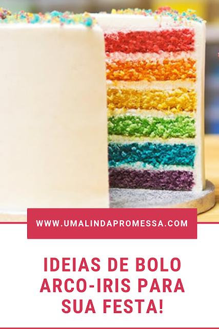 como fazer bolo arco-iris