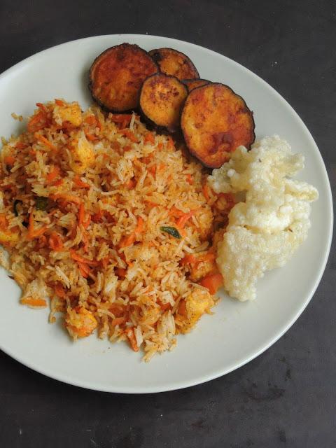 Carrot Paneer Rice