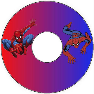 Etiquetas de Spiderman para CD's.