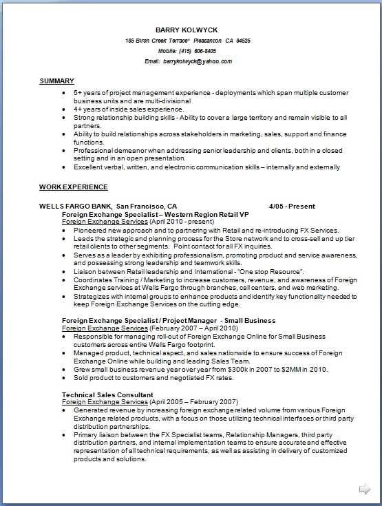 Project Manager Curriculum Vitae Details Format in Word Free
